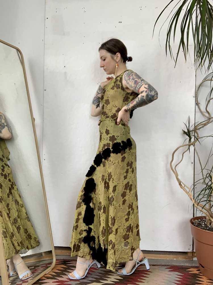 1930s Chartreuse Lamé Gown - image 14