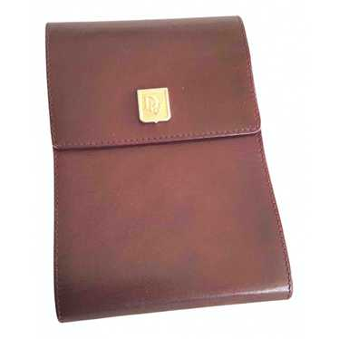 Dior Burgundy Leather wallet for Women