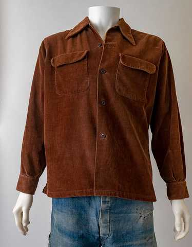 1940s Corduroy Camp Shirt