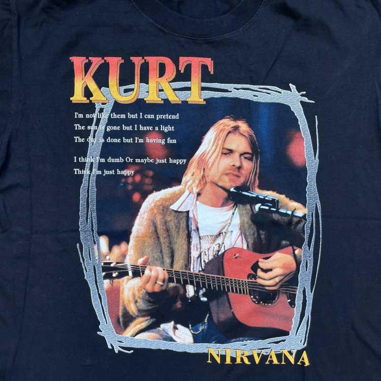 Vintage 2000s Kurt Cobain Nirvana T-shirt - image 3