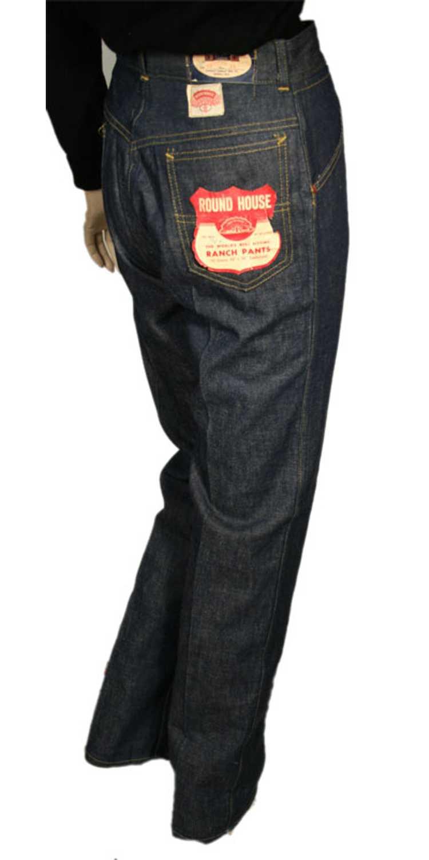1930s Denim Ranch Pants - image 3