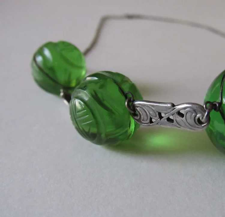 Antique Pools of Light Sterling Silver Necklace S… - image 3