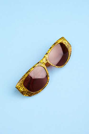 CHRISTIAN DIOR 90s Frosted Yellow Speckled Sunglas