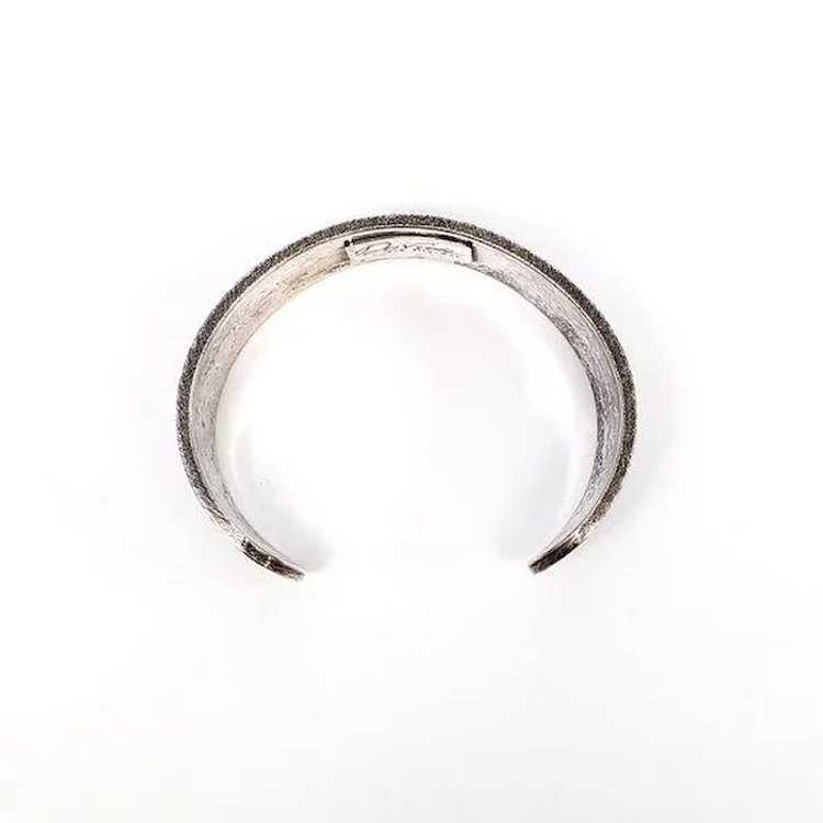 Davide Bigazzi Oxidized Sterling Silver Chased Cu… - image 7