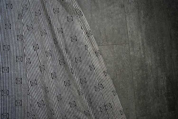 Antique calico dress . vintage gingham dress - image 6
