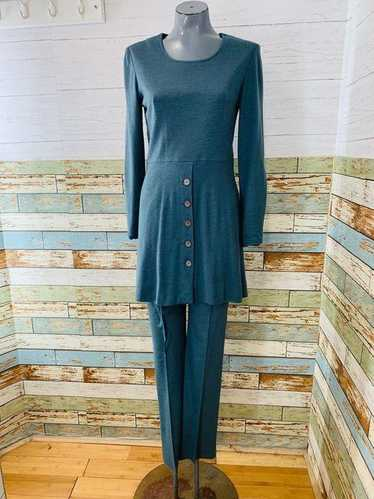 70s Pant & long Sleeve Knit Tunic 2 Piece Set By C