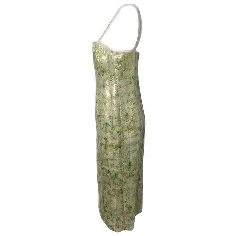 BY. Bonnie Young Green Sequined Sleeveless Formal… - image 5
