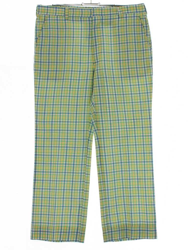 1980's Mens Plaid Golf Pants - image 1