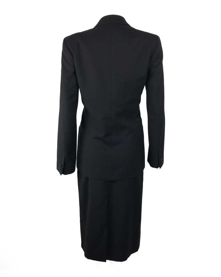 Gucci 1970s Black Smoking Two Piece Suit - image 2