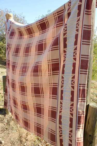 """""""Desert Camp"""" Vintage 1940s Beacon Trade Blanket"""