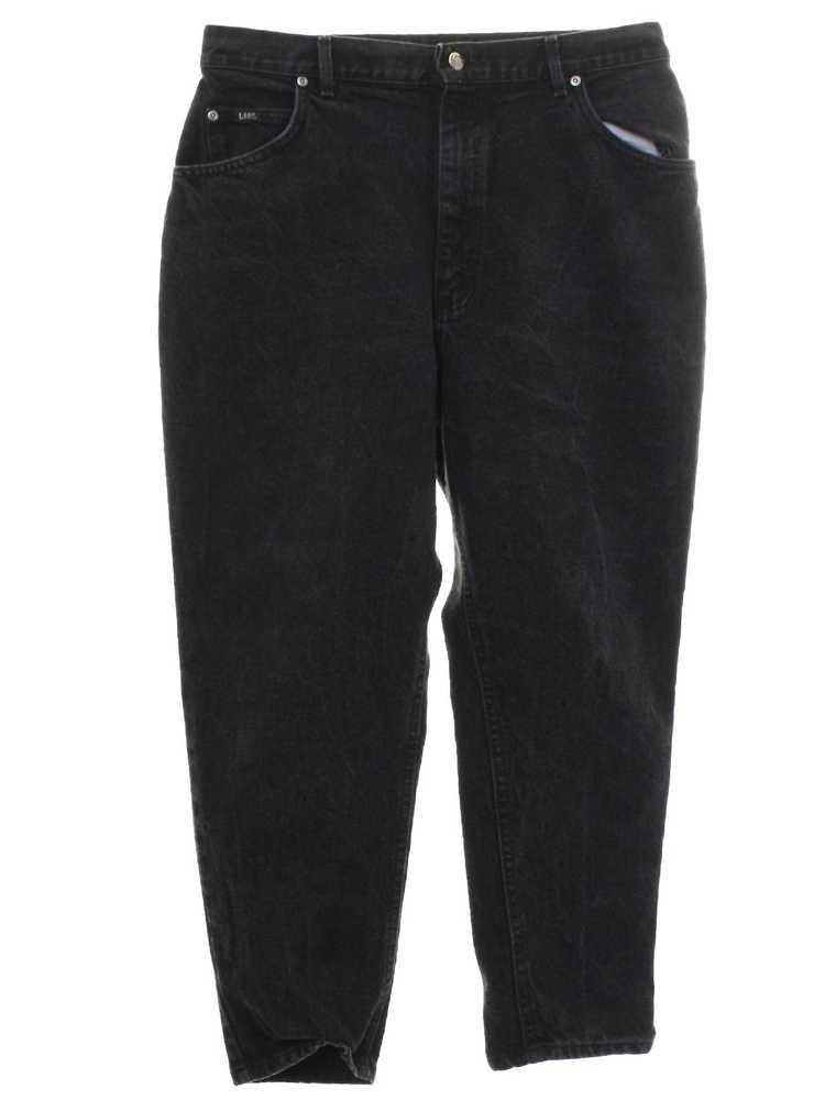 1980's Lee Womens Lee Highwaisted Denim Jeans Pan… - image 1