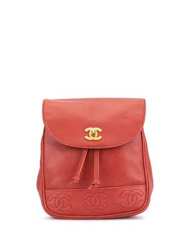 Chanel Pre-Owned 1995 CC backpack - Red
