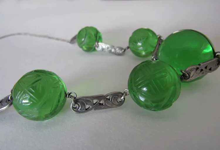 Antique Pools of Light Sterling Silver Necklace S… - image 4