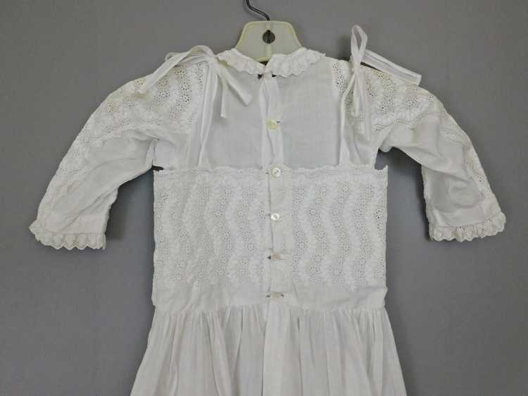 Antique Edwardian Little Girl Dress, Embroidered … - image 9