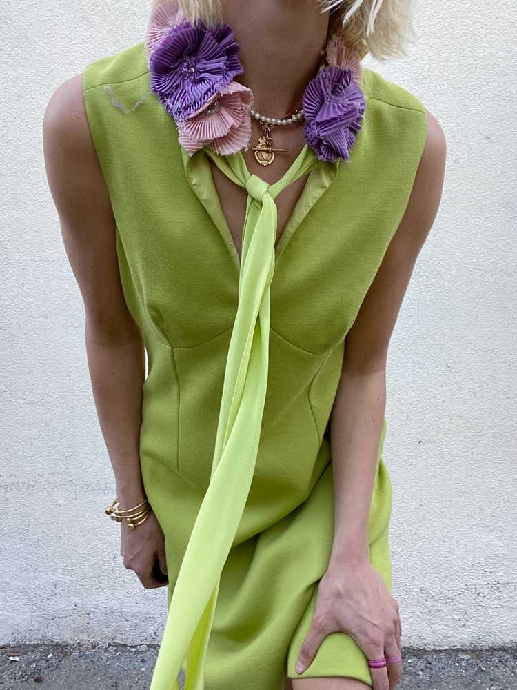 Vintage Moschino Chartreuse Dress - image 5