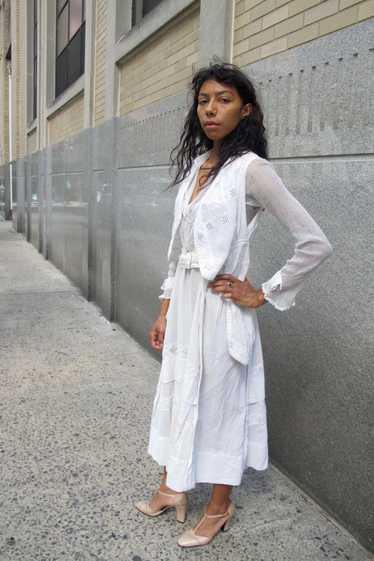 Edwardian Tulle and Lace Vest Dress