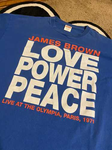 "Supreme Supreme James Brown ""Love Peace Power"" Tee"