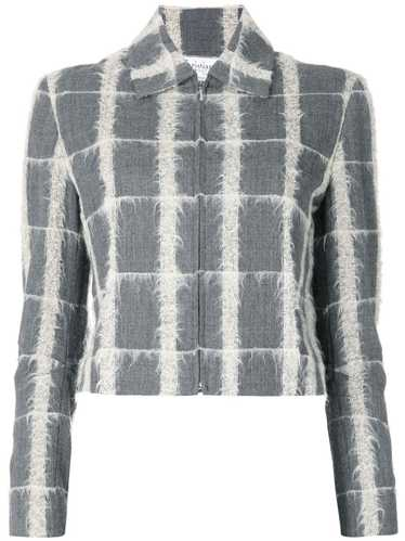 Christian Dior pre-owned checked jacket - Grey
