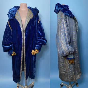 1920s lame and velvet coat