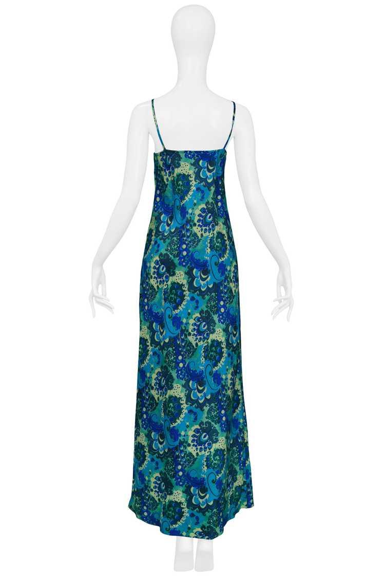 DRIES BLUE & GREEN FLORAL SLIP DRESS 1997 - image 2