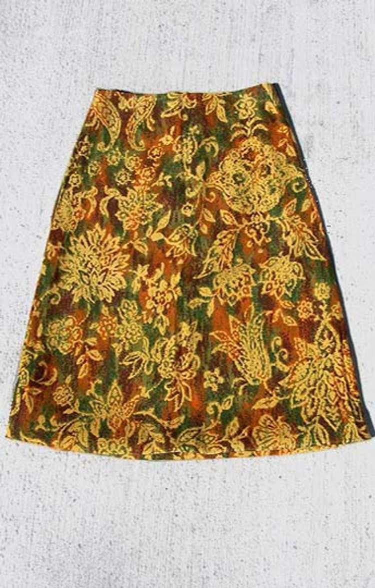 Cotton twill pencil skirt - image 4