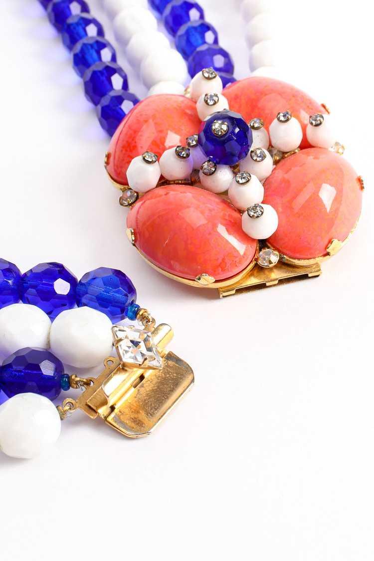 ARNOLD SCAASI Multi-Strand Cabochon Bead Collar - image 8