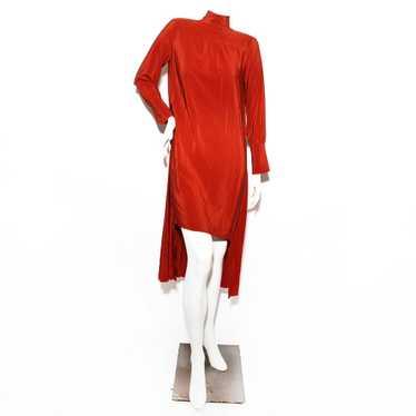 Chloe Pleated Crepe Dress
