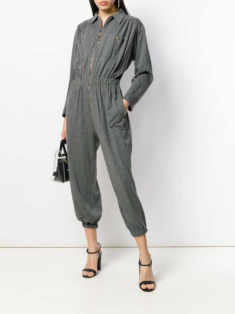 Moschino Pre-Owned 1990's utility jumpsuit - Grey - image 2