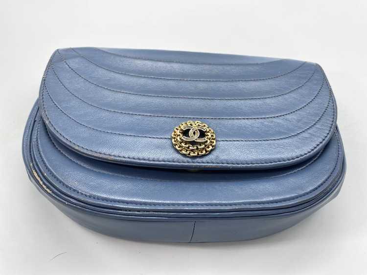 Chanel Blue Lambskin Flap Bag - image 7