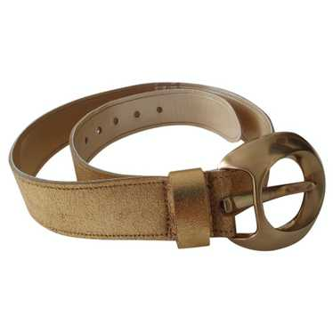 Mcm Gold Leather belt for Women M International