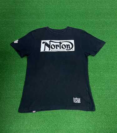 Norton Motorcycle Logo Retro Mens White Black T-Shirt Size S To 3XL