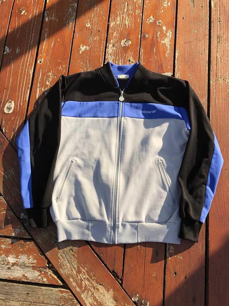 Vintage Vintage 70s Adidas Track Jacket Large - image 1