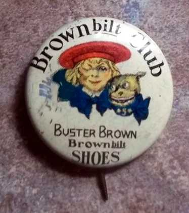 Antique Advertising Pin Pinback That Reads Little Miss Junket  dr53