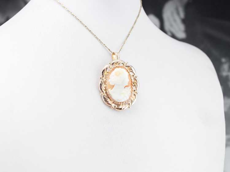 Mid Century Cameo Pendant or Pin - image 9