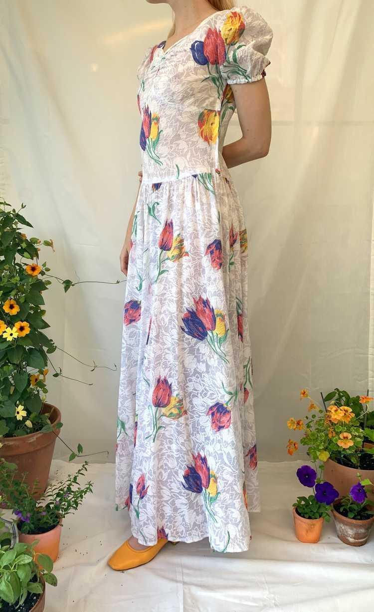 Tulip Print Voile Garden Party Dress - image 5