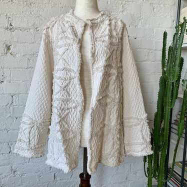 1970s Ivory Lightweight Quilted Jacket with Shag D