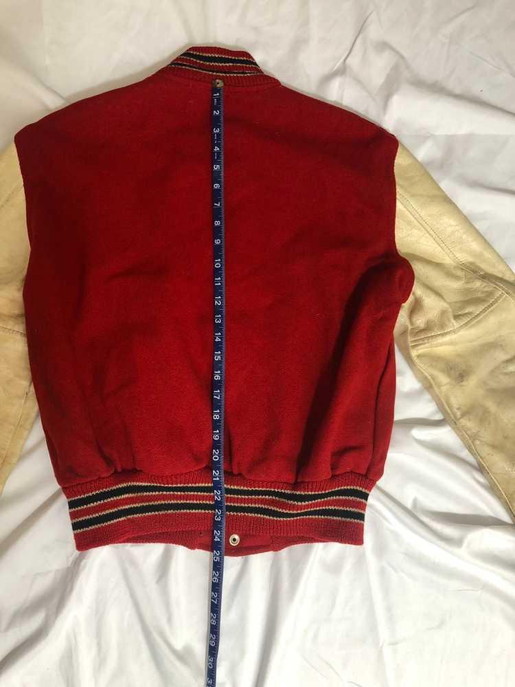 Vintage 60s Red Varsity Jacket - image 4