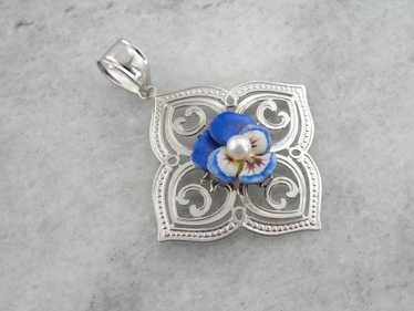 Perfect Pansy, Unique Pansy Flower Pendant