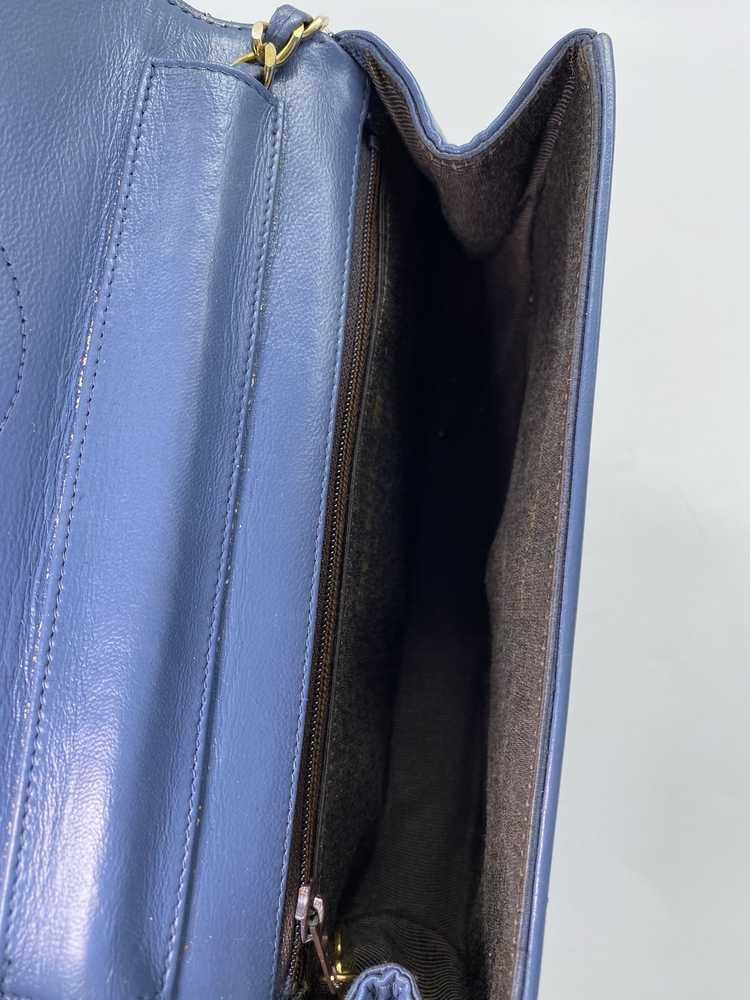 Chanel Blue Lambskin Flap Bag - image 2
