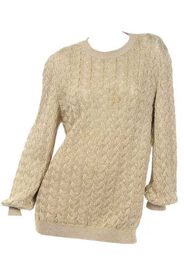 Vintage Valentino Gold Sparkle Pullover Long Sweat