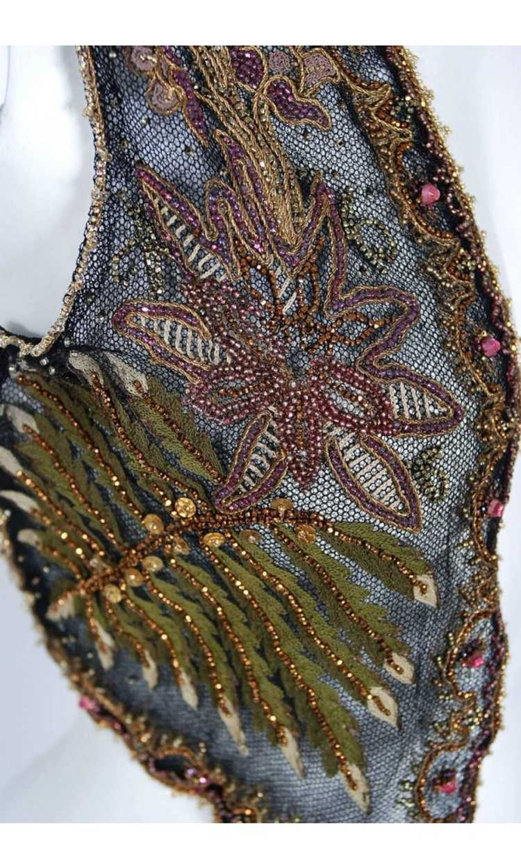 1910 Edwardian Antique Embroidered Beaded Floral … - image 4