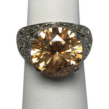 Sterling Silver Simulated Citrine Ring