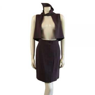 Vintage John Galliano Grey Mauve Waistcoat Suit -