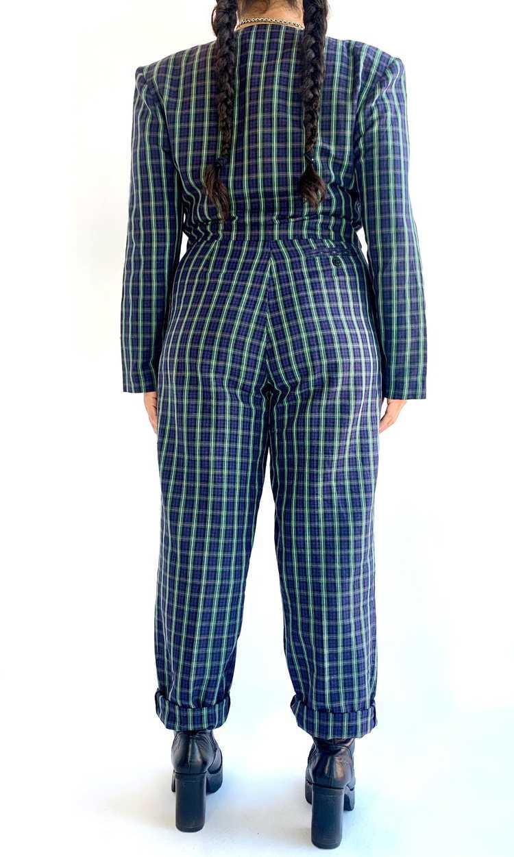 Plaid Linen Suit Set - image 4