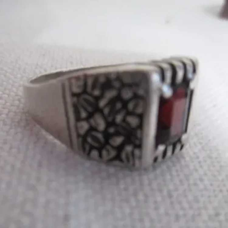 Sterling Silver Ring with Ruby - image 9