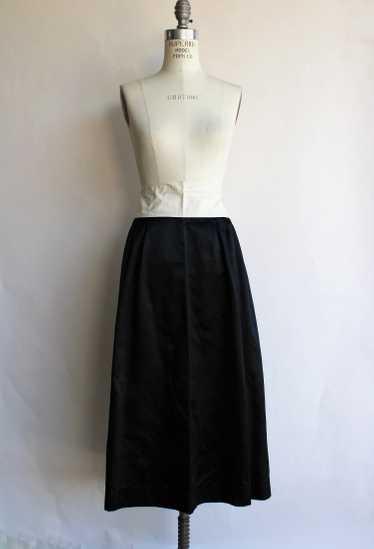 Antique 1910s Black Silk Satin Skirt