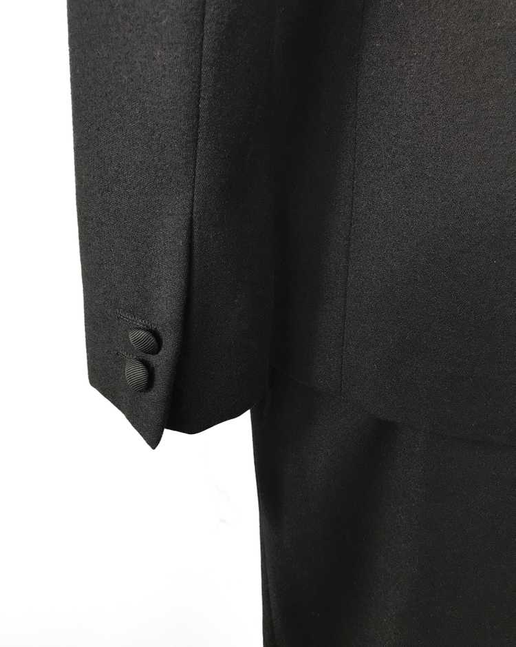 Gucci 1970s Black Smoking Two Piece Suit - image 9