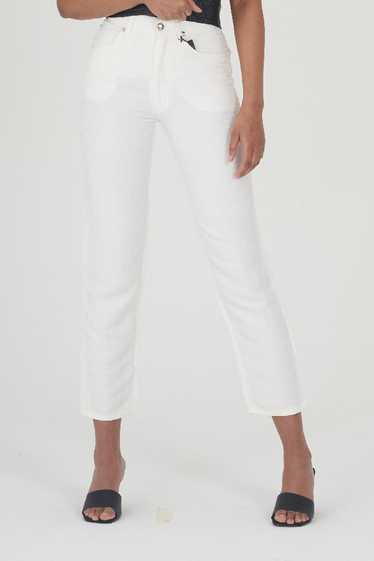 Vintage Rare 90's Dead Stock Fendi White Logo Jean