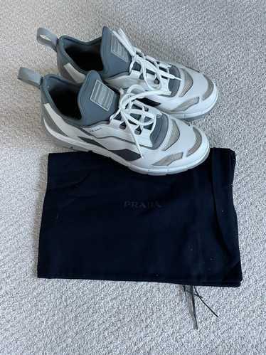 Prada Prada Sport Leather Low Top Sneakers