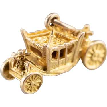Fanciful Fairy Tale Carriage Charm